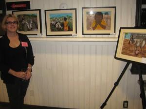 Alma Fullerton and her art. Photo credit: Pat Thornton Jones.
