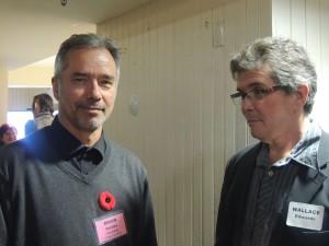 Brian Deines and Wallace Edwards. Photo credit: Ellen Nodwell.