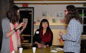 Rebecca Bender, Eva and Greg Higgison. Photo credit: Ellen Nodwell.