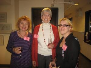 Sue MacLeod, Jill MacLean and Alma Fullerton. Photo credit: Pat Thornton Jones.
