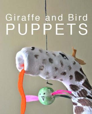 GiraffeAndBirdPuppets