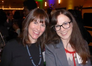 Nominated author Meghan Marentette and publicist Erin Woods