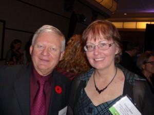 Richard Jones and Karen Bass