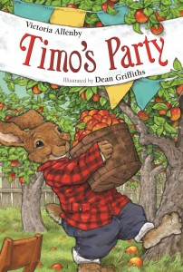 Cover: Timo's Party Author: Victoria Allenby Illustrator: Dean Griffiths Publisher: Pajama Press