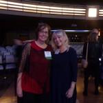 Karen Bass and Pajama Press Publisher Gail Winskill celebrate Karen's win of the Geoffrey Bilson Award