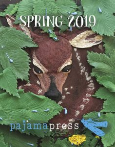 Spring 2019 catalogue cover for Pajama Press