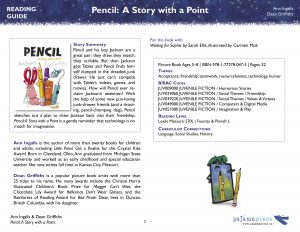 First page of the teaching guide for the book Pencil: A Story with a Point
